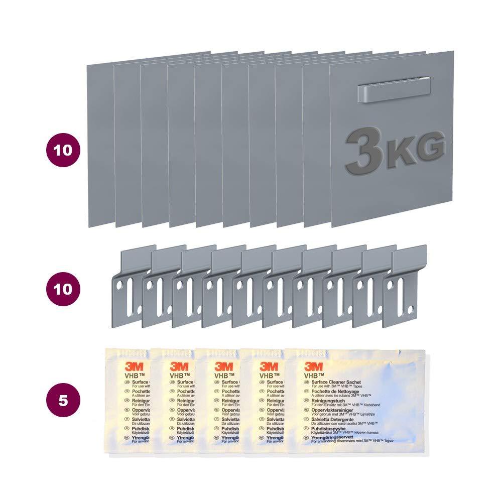 Scatola 10Fascette adesive Dibond 70x 70mm: max 3kg NEWLY