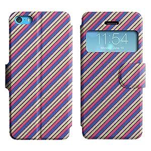 LEOCASE línea diagonal Funda Carcasa Cuero Tapa Case Para Apple iPhone 5C No.1005156