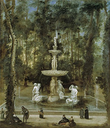 - Oil Painting 'Velazquez Diego Rodriguez De Silva Y (Workshop) La Fuente De Los Tritones En El Jardin De La Isla De Aranjuez 1657' 8 x 9 inch / 20 x 24 cm , on High Definition HD canvas prints, decor