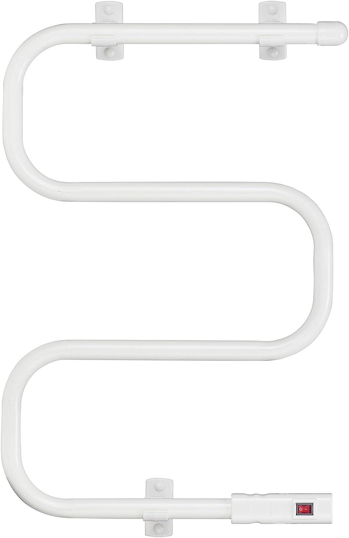 PURLINE Toallero Eléctrico de Acero Bajo Consumo 60 W Blanco NTW-01