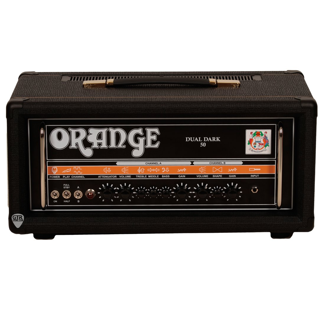 Orange Dual Dark 50 50/25 watt, Class A/B 2 channel High Gain Tube Head