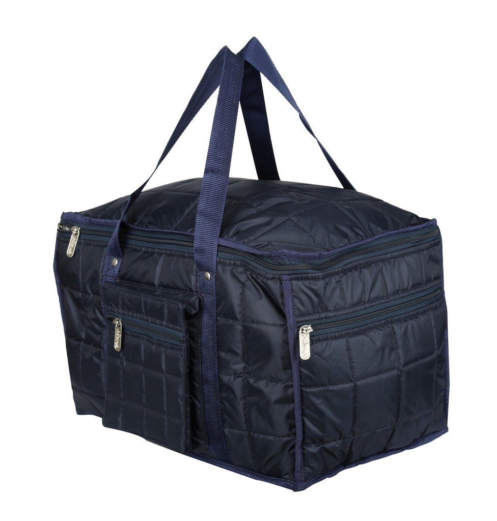 """SuiDhaga Polyester 17"""" Blue Soft Sided Travel Duffles"""