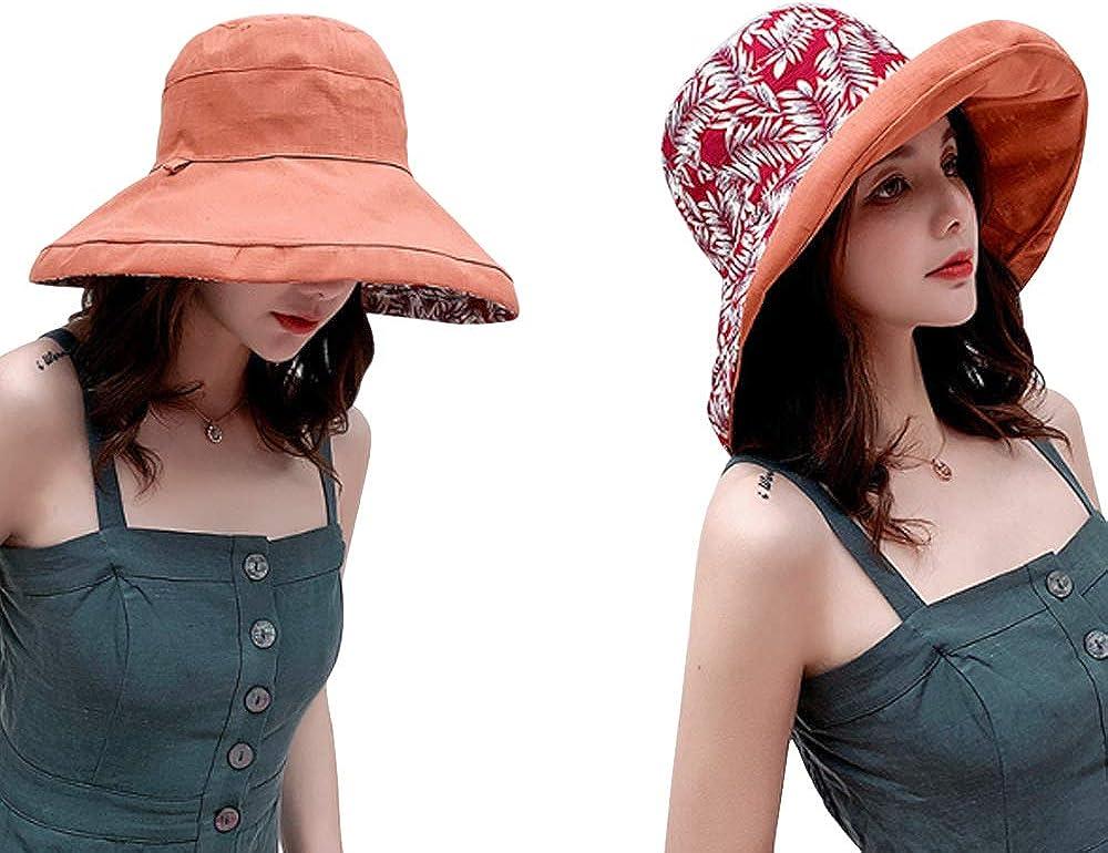 XRDSS Women UPF 50 Summer Outdoor Wide Brim Bucket Sun Hat Protection Neck Face Flap Hat