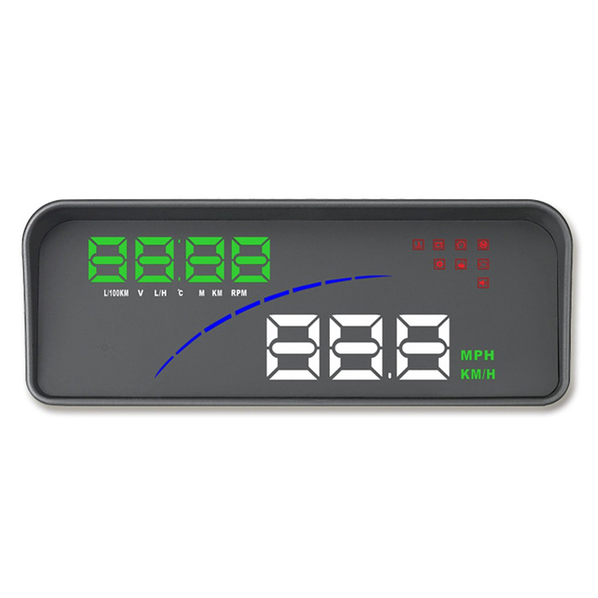 OLSUS Universal Vehicle GPS HUD Digital Head Up Display with Speed Projector Function - Black