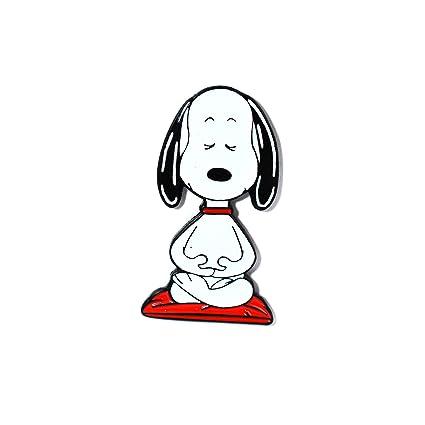 Amazon.com: Bonito pin de Snoopy para yoga, con esmalte para ...