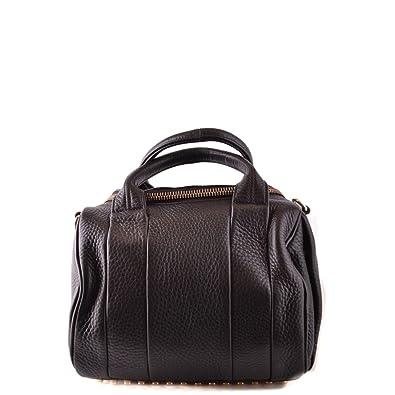 Bolsos cuero de negro compras bolso Cartera de de Alexander bolso Wang mano de Twgnv7SB