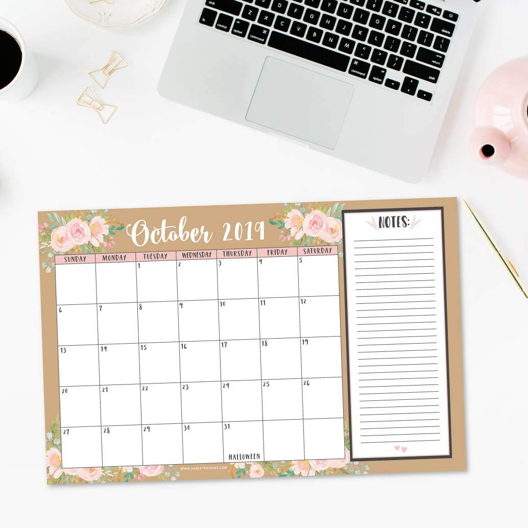 Amazon.com: Calendario de pared o escritorio grande 2019 ...