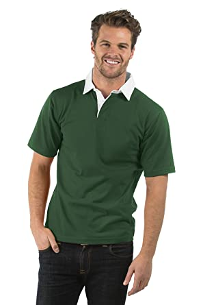 223e4551ca8 Bruntwood Premium Short Sleeve Rugby Shirt - 280GSM - Cotton/Polyester:  Amazon.co.uk: Clothing