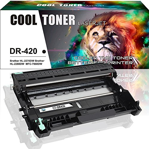 Cool Toner 1 Pack Compatible for Brother DR420 DR-420 Drum Unit for Brother HL-2270DW HL-2280DW MFC-7860DW DCP-7065DN MFC 7460DN MFC 7360 HL-2240d Black Drum Unit Cartridge