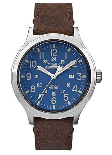 Timex Reloj Analógico-Digital para Hombre de Cuarzo con Correa en Cuero TW4B06400: Amazon.es: Relojes