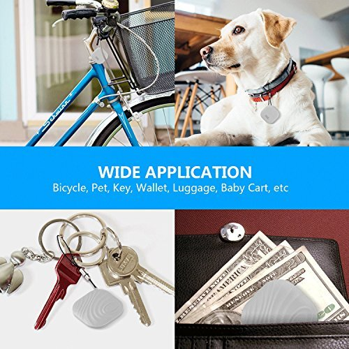 Apsung Mini Bluetooth GPS Tracker, Key Finder, Smart Anti lost Tag Nut Find 3, Phone Wallet Bag Pet Locator with App Control Bi directional Alarm for iPhone / Android