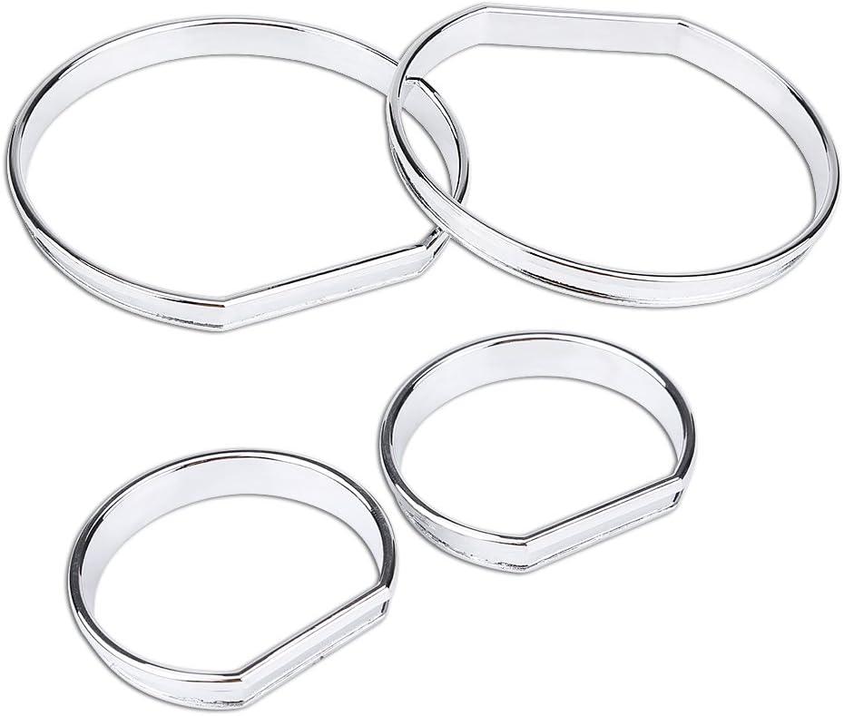 decorazione per cornice e anelli di regolazione per E46 Set di 4 pannelli anteriori per auto tachimetro Duokon QL05045