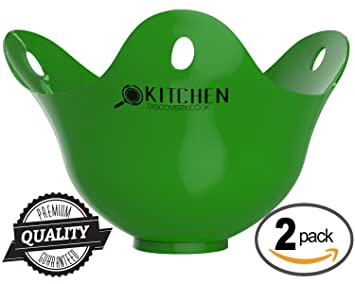 Egg Poacher - 2 pack For Cooking Poached Eggs -LIFETIME GUARANTEE ...