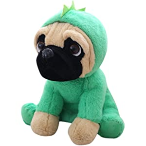 LILICAT Soft and Cuddly Pug Plush Toys in Outfits 24cm Puppy