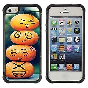 Pulsar Defender Series Tpu silicona Carcasa Funda Case para Apple iPhone 5 / iPhone 5S , Cute Pumpkin Family