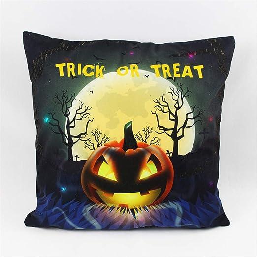 ACACIA - Funda de cojín Luminosa para Halloween, con luz LED ...