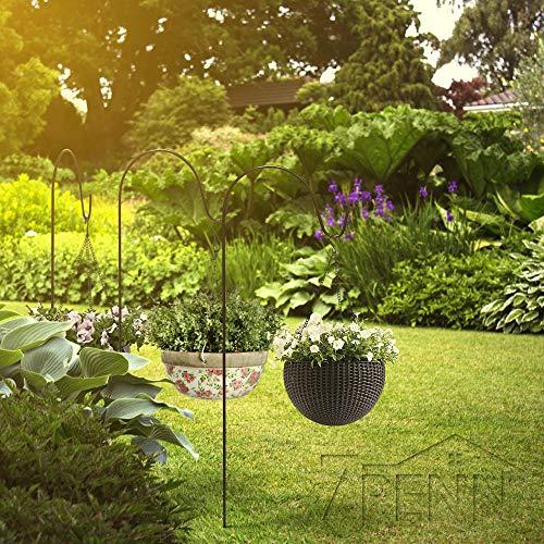 """7Penn Black Shepherds Hook 2pk, 92"""" Inch (Set of 2) Shepherds Hooks for Plant Hanger Bird Feeder Pole Lantern Stand by 7Penn (Image #2)"""