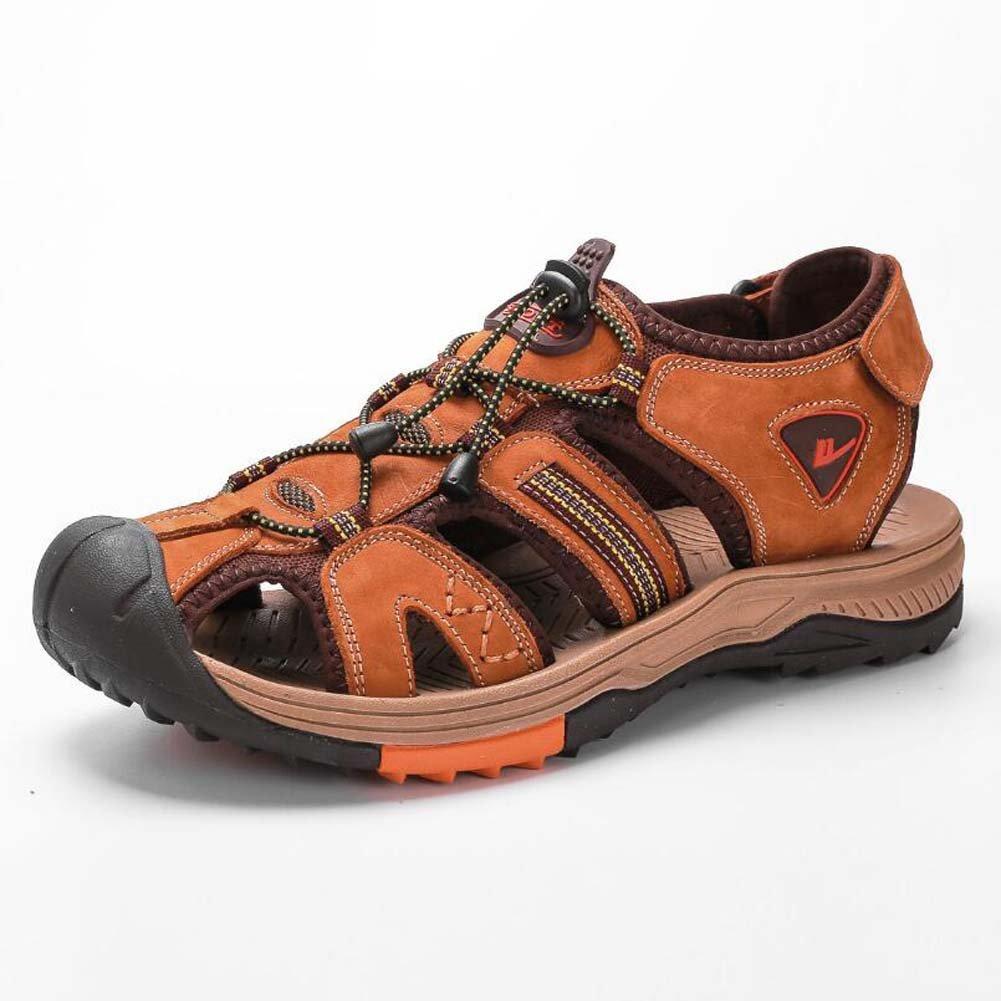 GLSHI Herrenschuhe Sommer Neue Leder Koreanische Strand Schuhe Wilde Wilde Wilde Europa und die Vereinigten Staaten Outdoor-Klettern Sandalen 506830