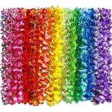 Toys : Myamy 36 Counts Hawaiian Leis Necklace Tropical Luau Hawaii Silk Flower Lei Theme Party Favors Wreaths Headbands Holiday Wedding Beach Birthday Decorations (3 Dozens)