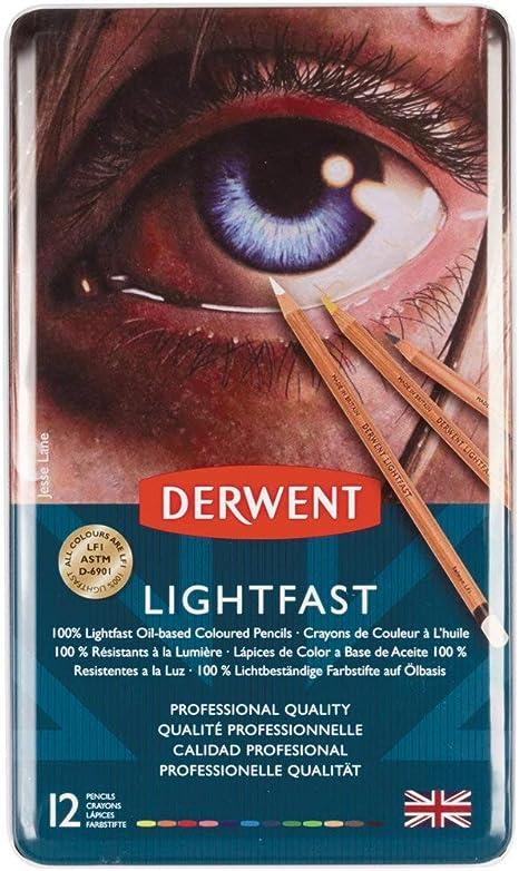 2302719 Set of 12 Professional Quality Derwent Lightfast Colouring Pencils