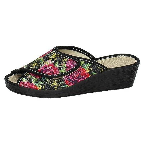 GEMA GARCIA 7306-4 Zapatillas DE CASA Mujer Zapatillas CASA Negro 38: Amazon.es: Zapatos y complementos