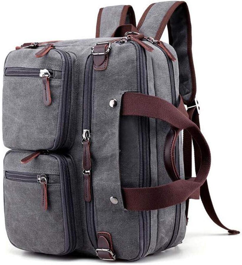 Canvas Dark Grey GYBest Convertible Multifunctional High Capacity Portable Messenger Bag Computer Bag Handbag Business Briefcase Travel Bag Suitable for 14 inch Laptop