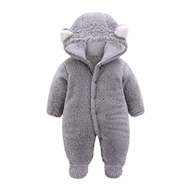 91e456e26 Amazon.com  Newborn Infant Baby Boys Girls Winter Snowsuits Cartoon ...