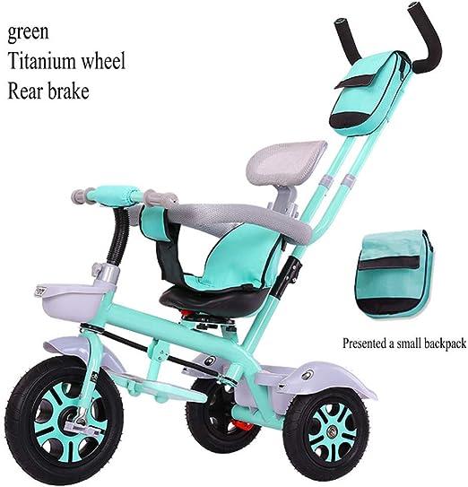 LZQBD Childrens Fun/Bicicletas for niños Triciclo Ciclismo Carro de bebé del Cochecito, Asiento Giratorio, 3-en-1 de Bicicletas, 75x55x90cm, 1-6 años, (Color : D4): Amazon.es: Hogar