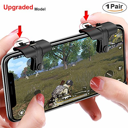 Mobile Game Controller for PUBG(The Newest) Aim and Capacitive Sensitive Press Shooting Buttoms L1 R1 for PUBG/Knives Out/Rules of Survival, Mobile Phone Joystick for Android iPhone IOS 1 Pair