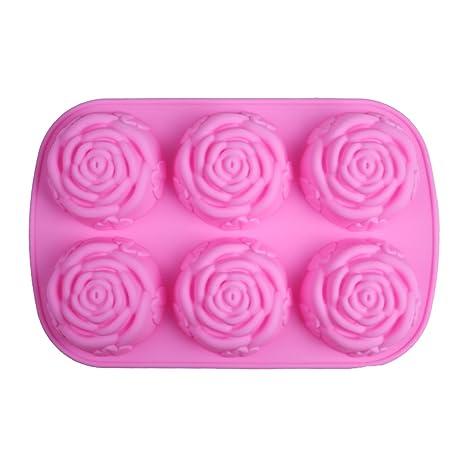 Ases alta calidad alimentaria grado lavavajilla DIY regalo del día de San Valentín Rose Cake Molde