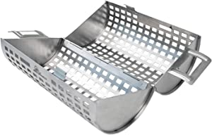 BBQ Dragon Rolling Grill Basket for Vegetables, The ONLY Vegetable Grilling Basket That Rolls to Turn Kabobs, Veggies and Shrimps on Your BBQ Grill - Grilling Accessories from