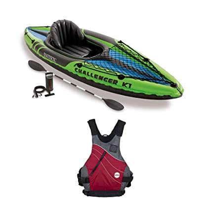 Amazon.com: Intex Challenger - Juego de kayak inflable y ...