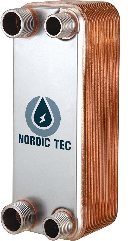 """3//4/"""" Edelstahl W/ärmetauscher Plattenw/ärmetauscher NORDIC TEC Ba-23-20 90kW 20 platten"""