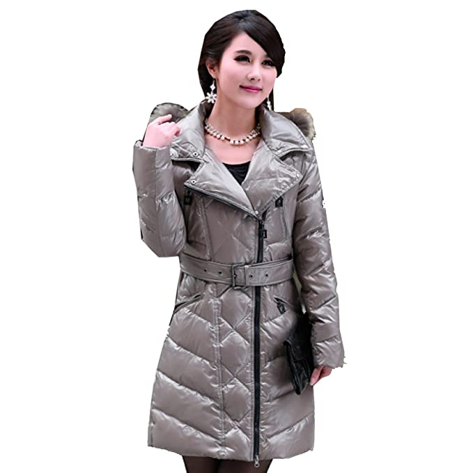 Eiderdown Outwear Down Coat Down Jacket Thin Lady Long Section Simple Self-cultivo Fue Delgado Abrigo De Cintura: Amazon.es: Ropa y accesorios