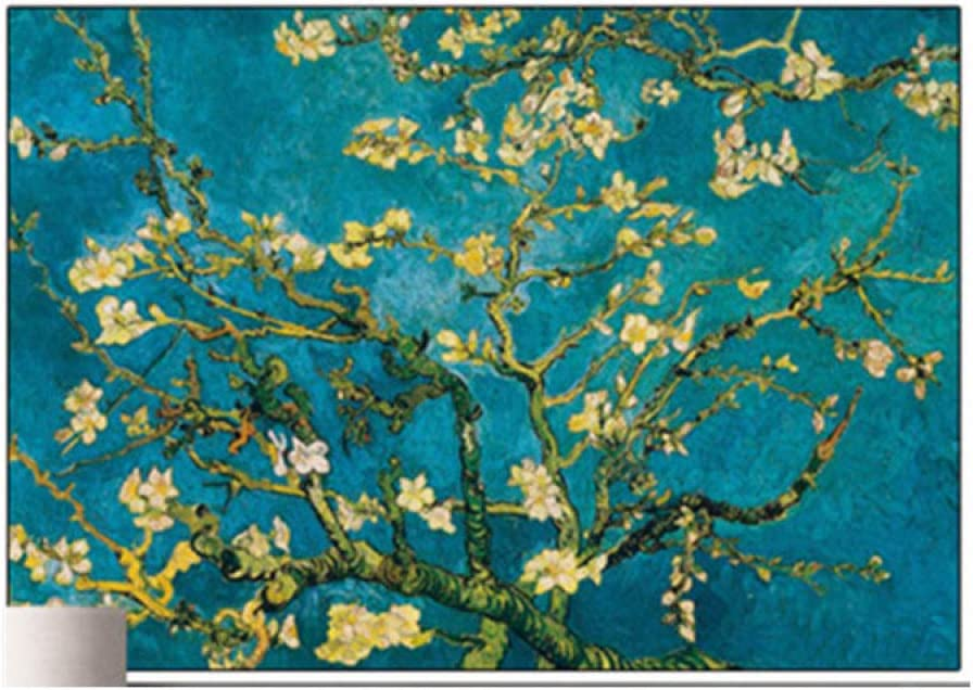 5D Diamond Painting By Number Kit For Adults, Diy Full Drill Cross Stitch Arts Craft,Van Gogh World Famous Painting Apricot Flower,For Relaxation And Canvas Home Wall Decor