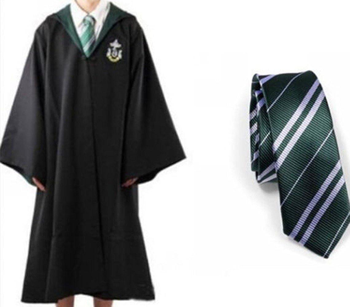 Disfraz de Slytherin de Harry Potter Robe & Tie Robe Cloak Disfraz ...