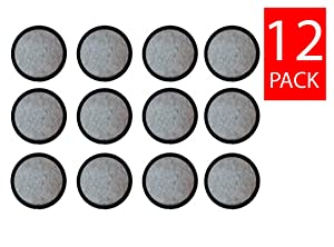 Premium Replacement Charcoal Water Filter Disks for Mr. Coffee Machines [12 Pack]