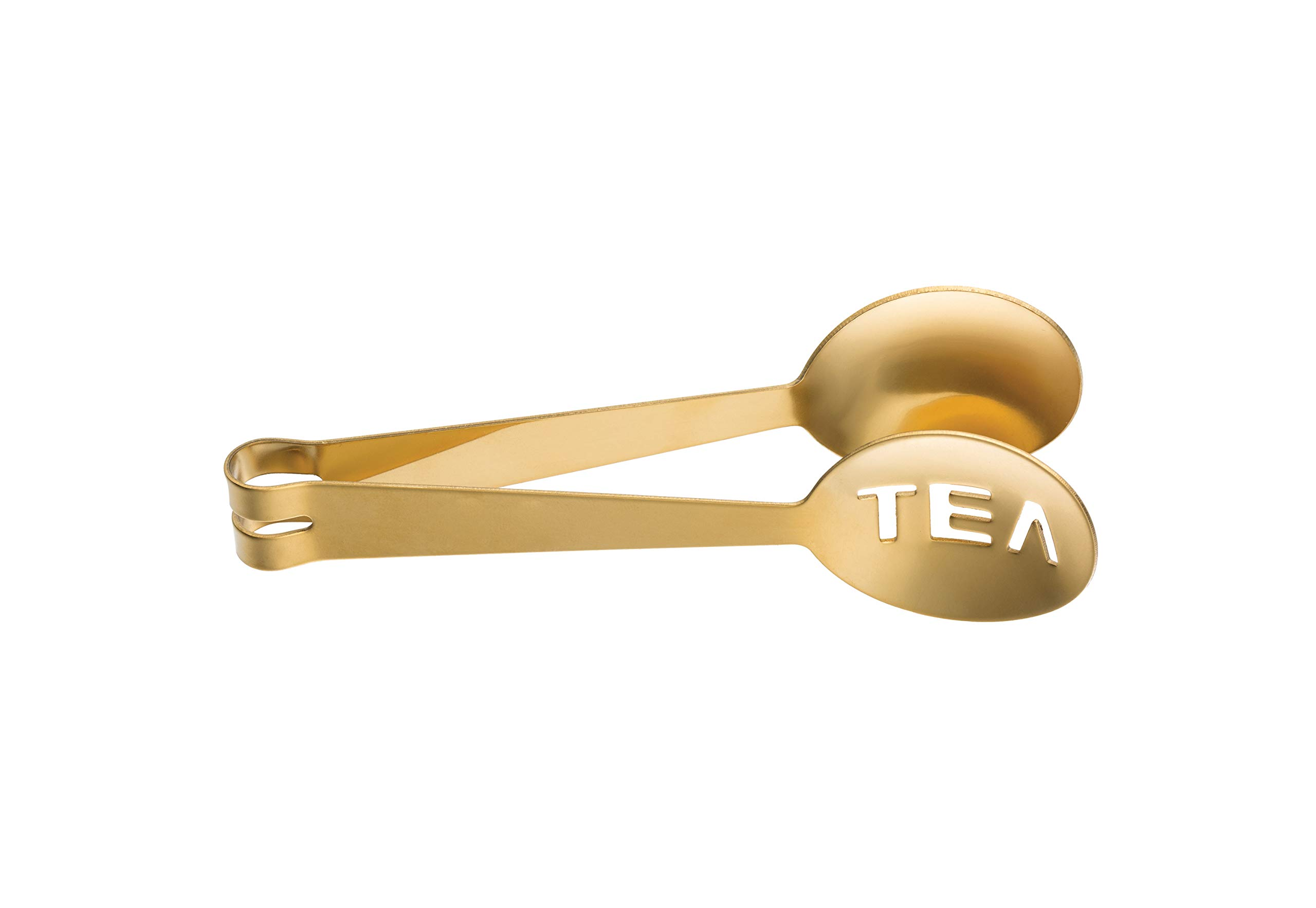 Creative Co-op Gold Electroplated Stainless Steel Tea Tongs Flatware