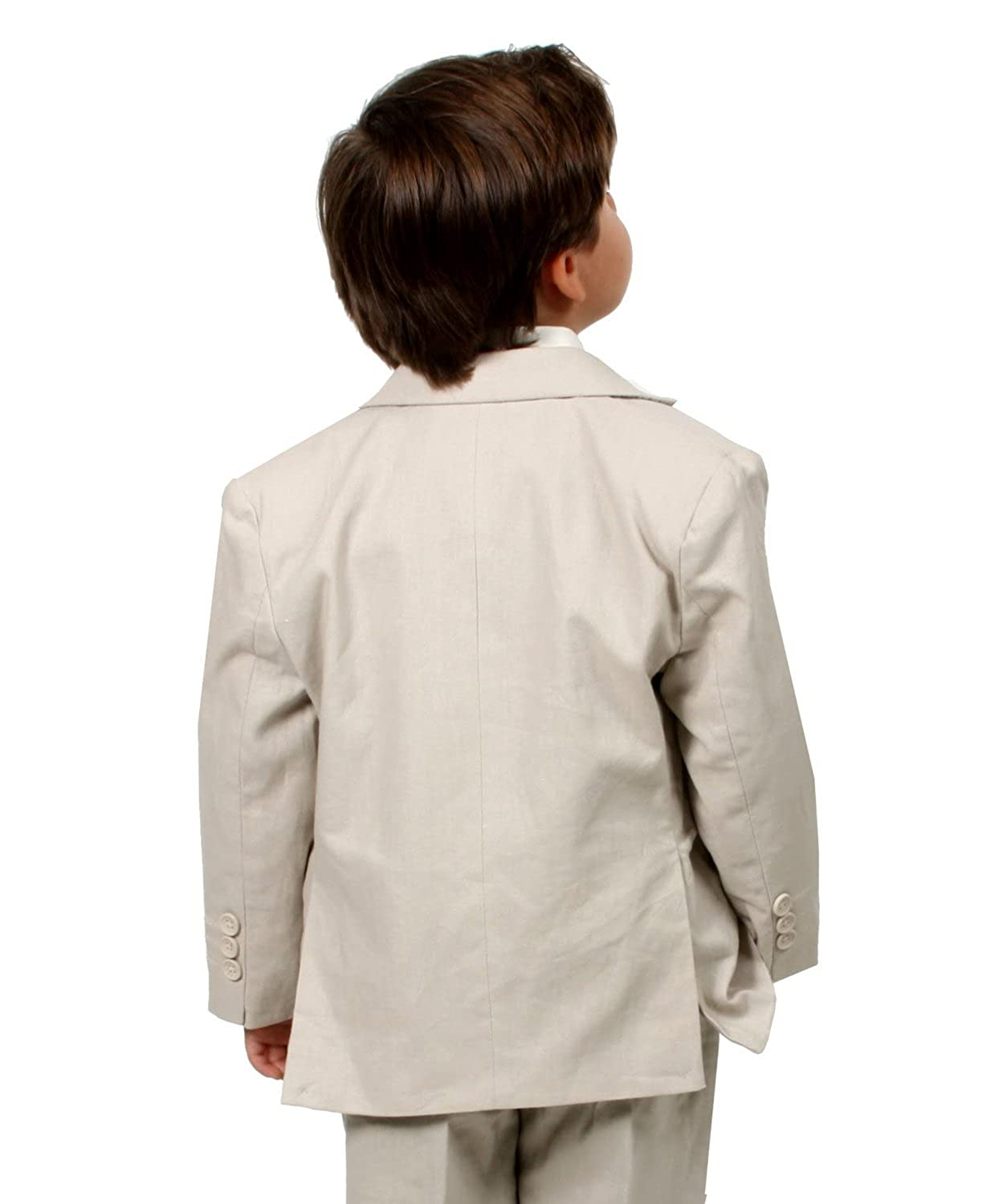 Johnnie Lene Boys Cotton//linen Blend Suit From Baby to Teen