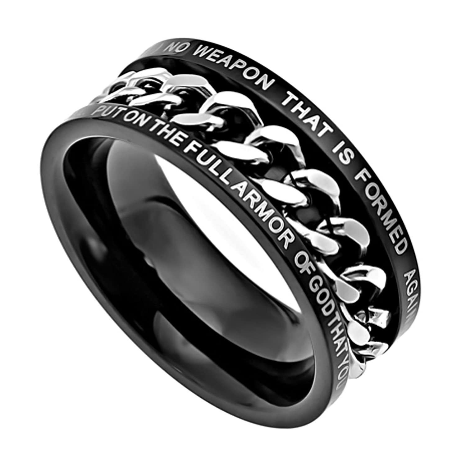Amazon Isaiah 54 17 Band Stainless Steel Black Spinner