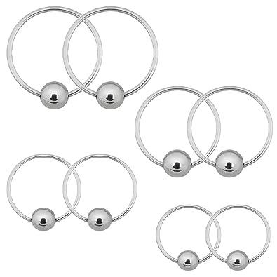 Amazon Com Bodyj4you Captive Bead Piercing Rings 20g 0 8mm For