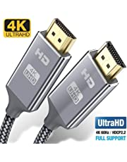 4K HDMI Cable 0.9M HDMI Lead/cord-Snowkids Ultra High Speed 18Gbps HDMI 2.0 Cable 4K@60Hz Compatible Fire TV, 3D Support, Ethernet Function, Video 4K UHD 2160p,HD 1080p,3D- Xbox PlayStation PS3 PS4 PC