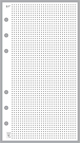 "Personal Size 1/4"" Dot Grid Paper Refill, Sized And Punched For Filofax Personal Notebook (3.7"" X 6.75"")"