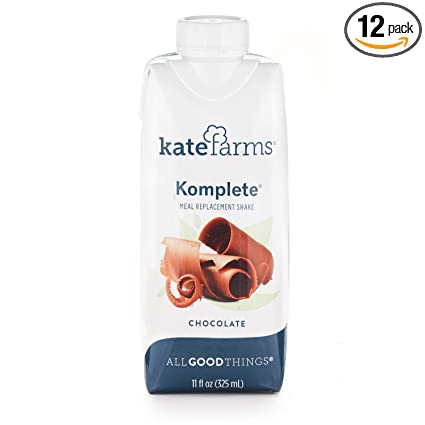 Amazon Com Kate Farms Komplete Chocolate Meal Replacement Shake Gluten Free Nut Free Dairy Free Organic Plant Protein Ready To Drink Case Of 12 Grocery Gourmet Food