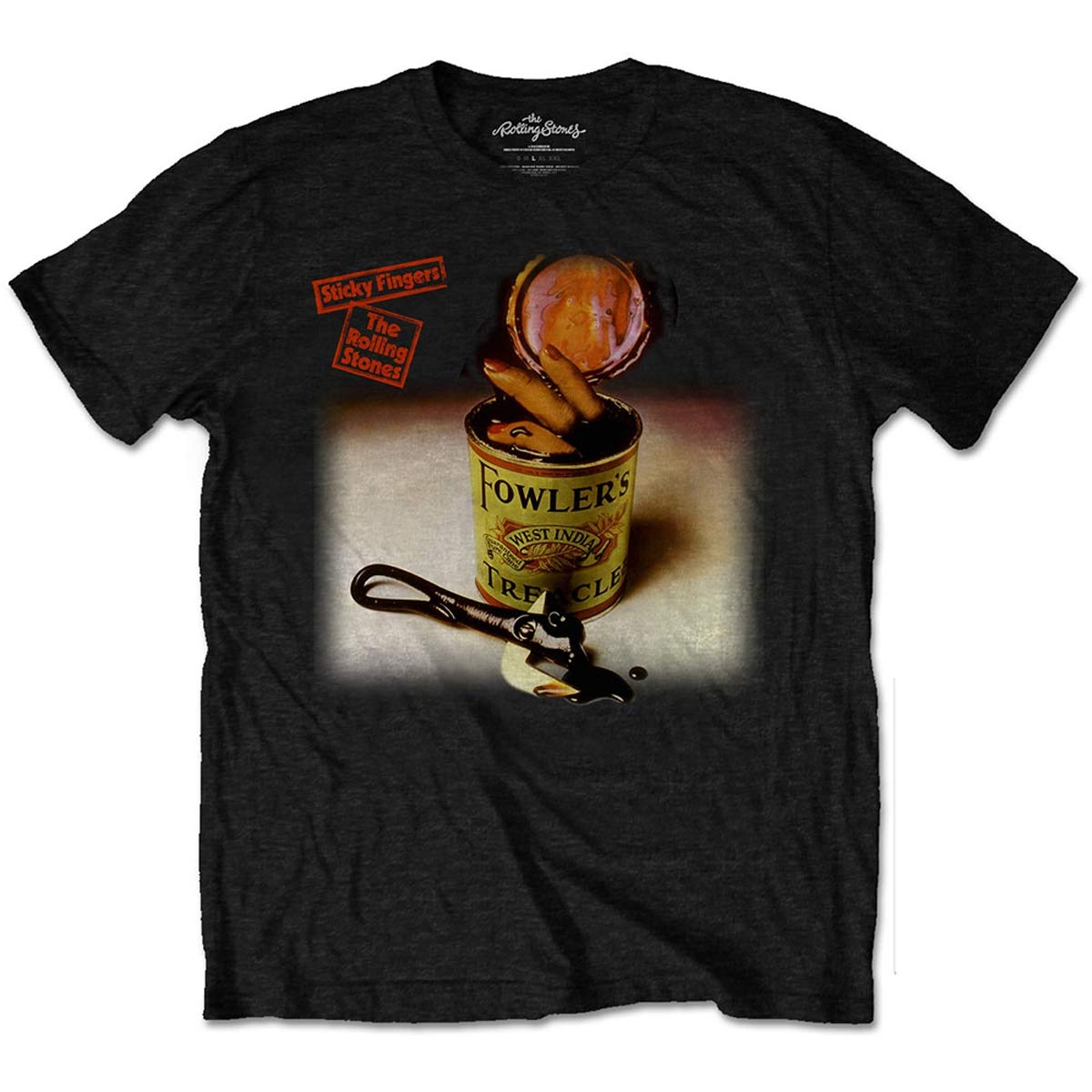 The Rolling Stones Mens T-Shirt Sticky Fingers Treacle