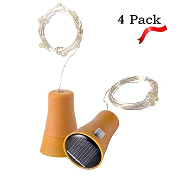 Amazon.de: e-jiaen LED Solar Kupfer Draht Lichterkette 15 LED 1, 5 ...