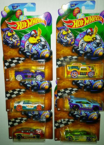 2016 Hot Wheels Easter Car Collection Wal-Mart Exclusive Bundle of Six Cars