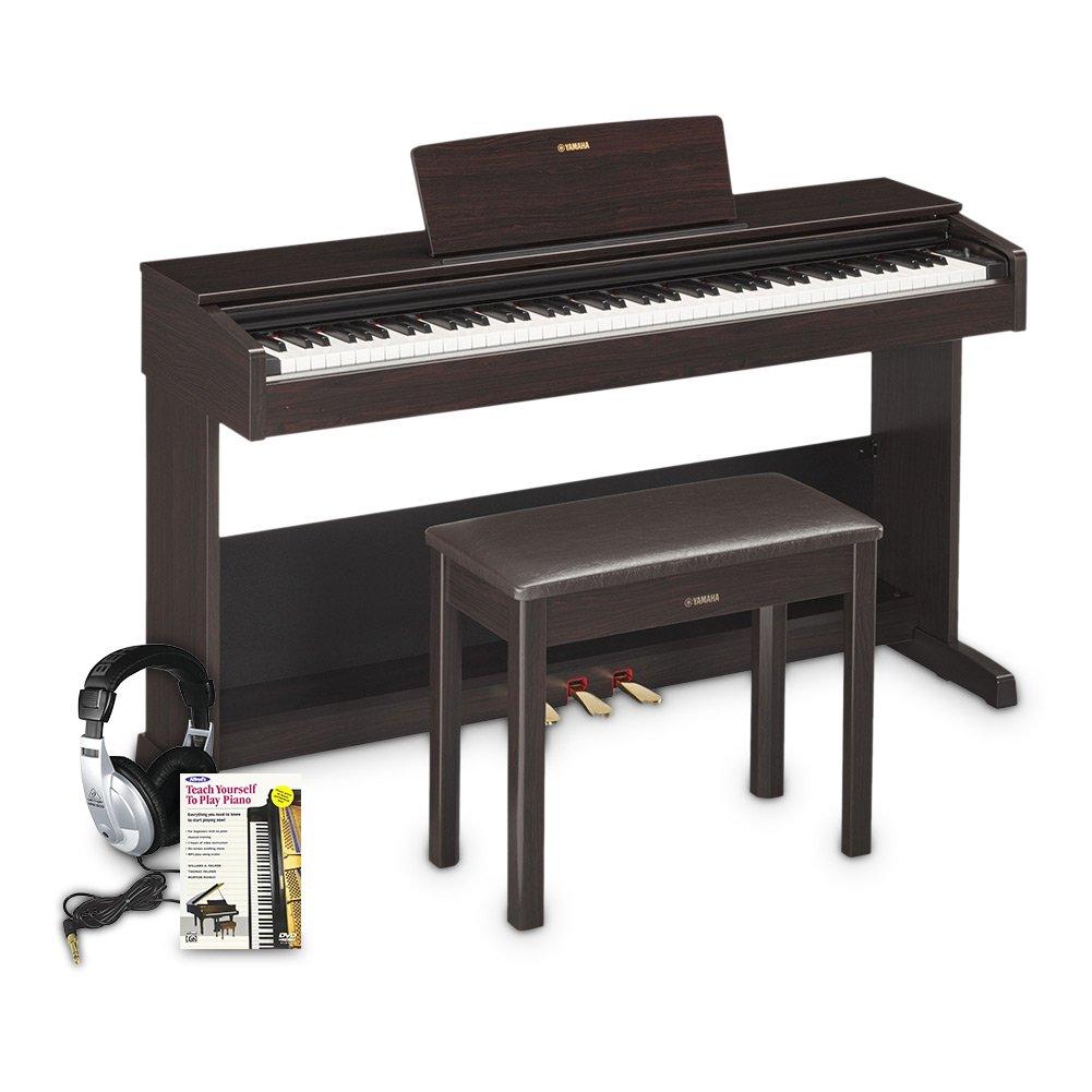 Yamaha YDP103 Arius Console Digital Piano Education Bundle, Rosewood with Headphones by Yamaha