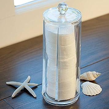 eviicc transparente cilindro almohadillas de algodón dispensador ...