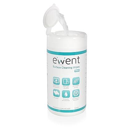 Ewent EW5612 - Toallitas de limpieza para pantallas (100 piezas)